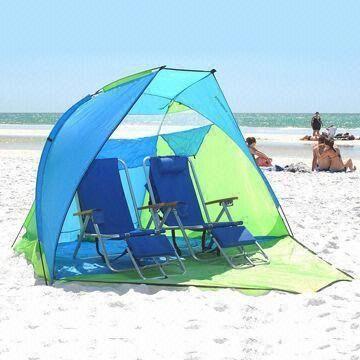 Easy Up Beach Sun Shades   Beach Sun Shade Tent with UV Protection, Easy to Carry, Various ...