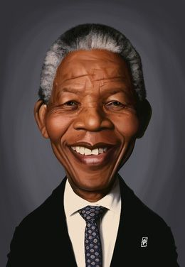 Nelson Mandela by robart at zippi.co.uk art | decor | wall art | inspiration | caricature | home decor | idea | humor | gifts
