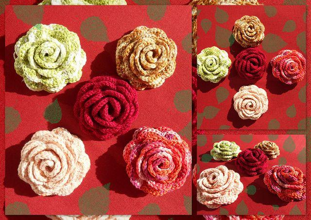 Crochet Rose Pattern : Crochet rose with pattern crochet ideas Pinterest