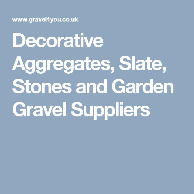 Decorative Aggregates, Slate, Stones and Garden Gravel Suppliers