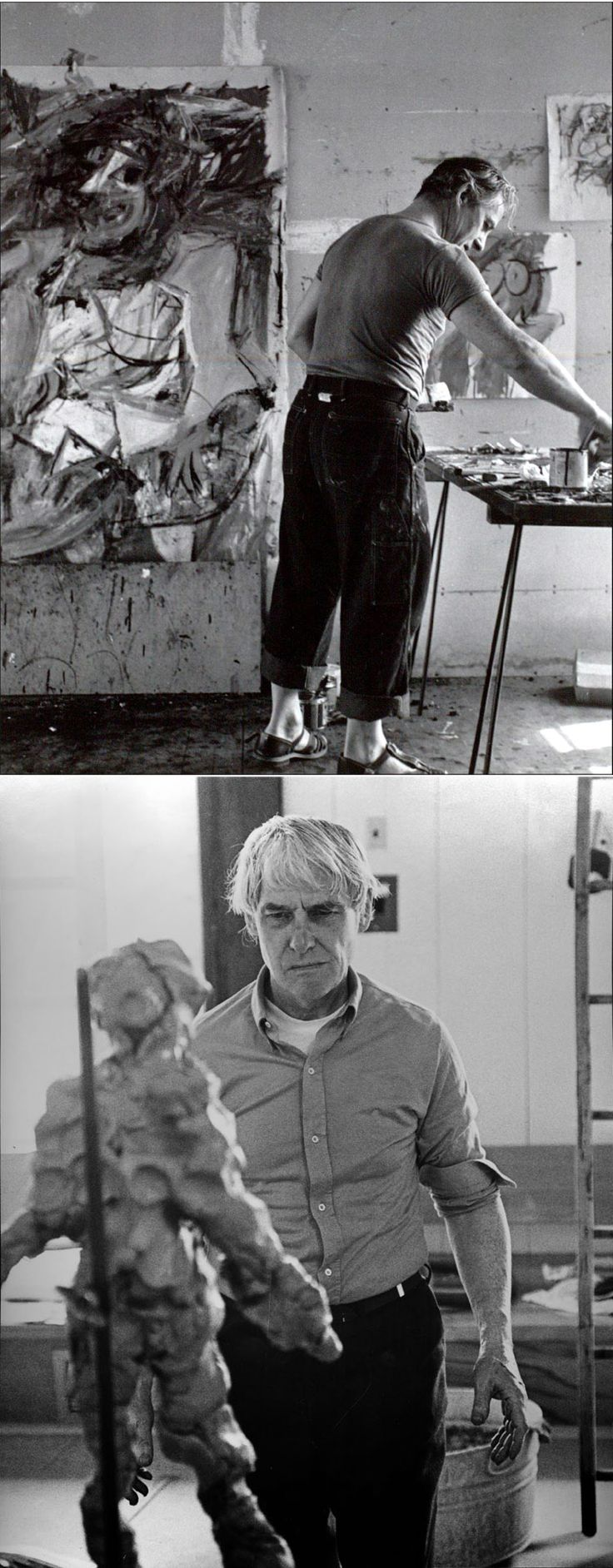 Willem de Kooning - Artist 20th c. - At Work.
