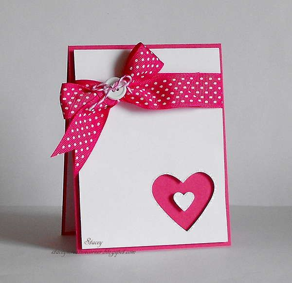 Valentine Punched Out Heart Window Card