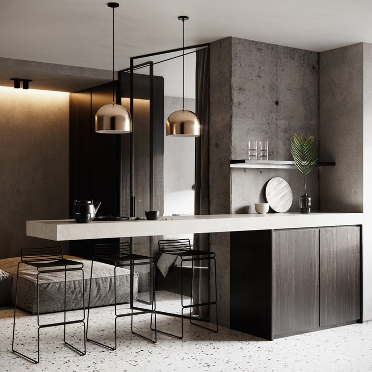 Cool Calm And Functional Kitchen: Six Calm, Cool & Collected Small Studios