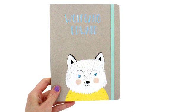 Wolf Notitieboekje  Naam persoonlijk Originele door PIETenKEES