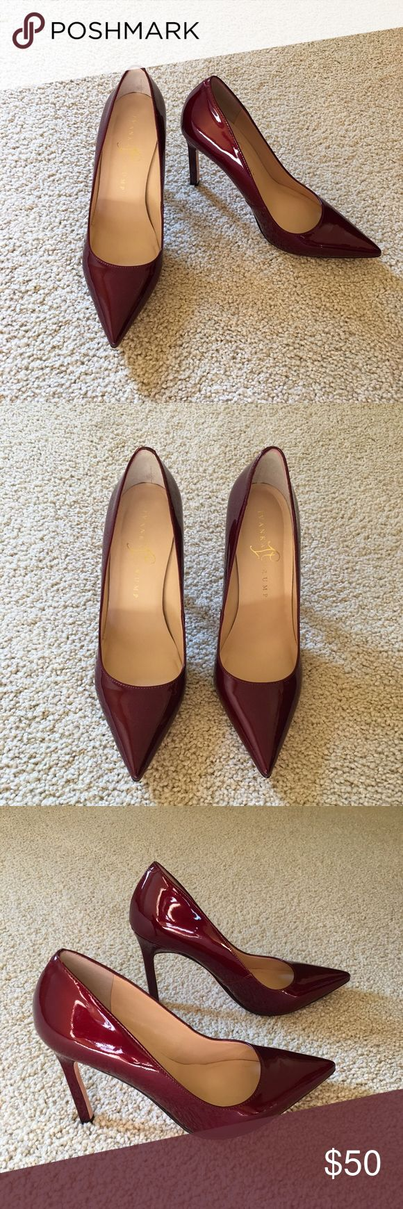 Ivanka Trump Red Patent Leather Pointed Toe Pump Kayden 4 style. 4 1/4 inch heel. Bought from another posher but they are too small for me :( || stunning shoe and awesome brand - I love all of my shoes from her! Ivanka Trump Shoes Heels