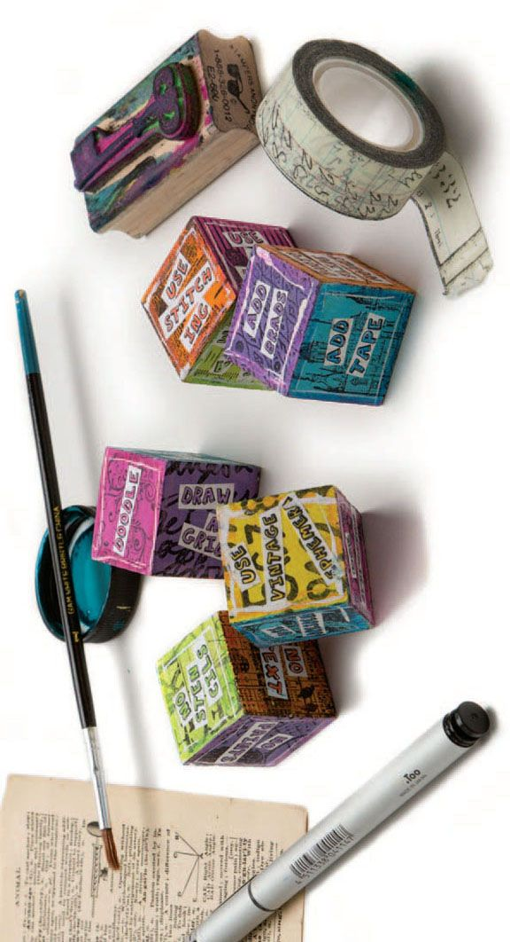 Carolyn Dube's artsy dice are a fun and surefire way to get your creative juices flowing.