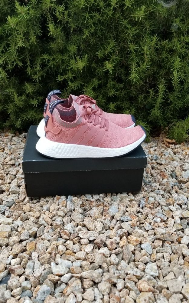914f4f3179476 Adidas Originals W Womens NMD R2 PK Boost Raw Pink Heather Grey BY8782 size  8