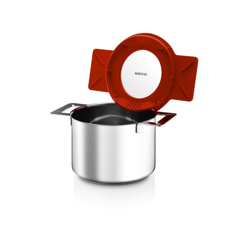 Amazon.com: Eva Solo Gravity Cookware - Stainless Steel 3.0 L Cooking Pot with Multifunctional Lid: Kitchen & Dining