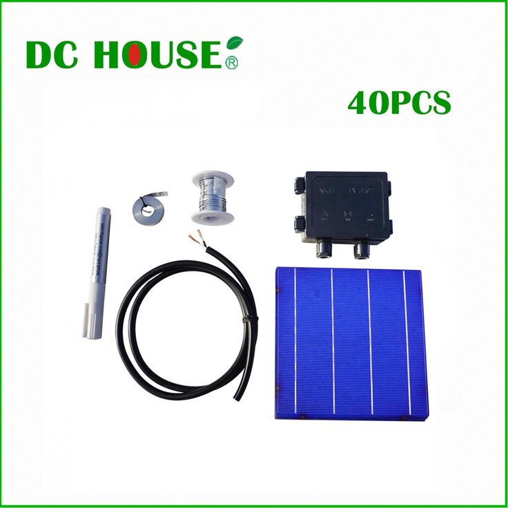 84.64$  Know more  - DIY 160W Solar Panel Full Kits 40pcs Poly 6x6 Solar Cell Tabbing Bus bus Flux Pen Junction Box Wire Complete Solar cell Kits