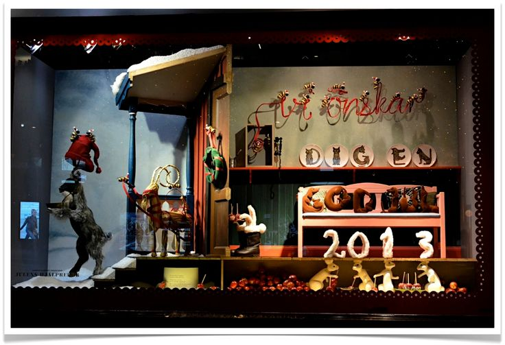 Smashing storefronts: Christmas 2013, NK Stockholm, Sweden