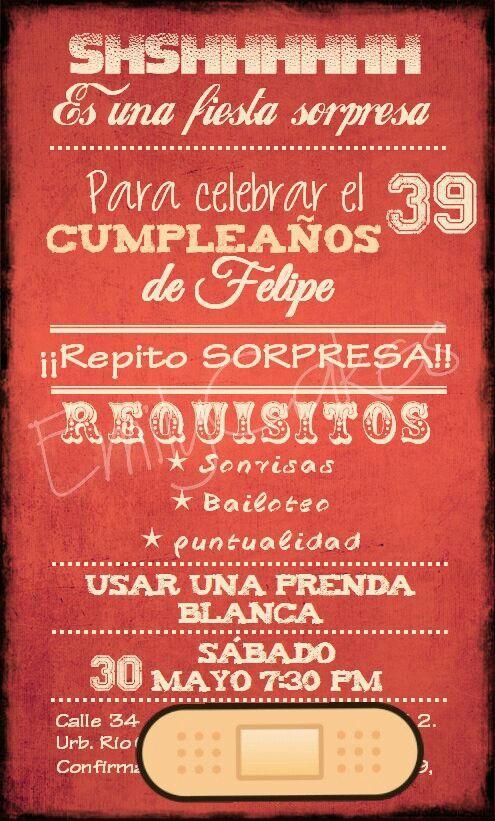 Invitación Fiesta Coca Cola