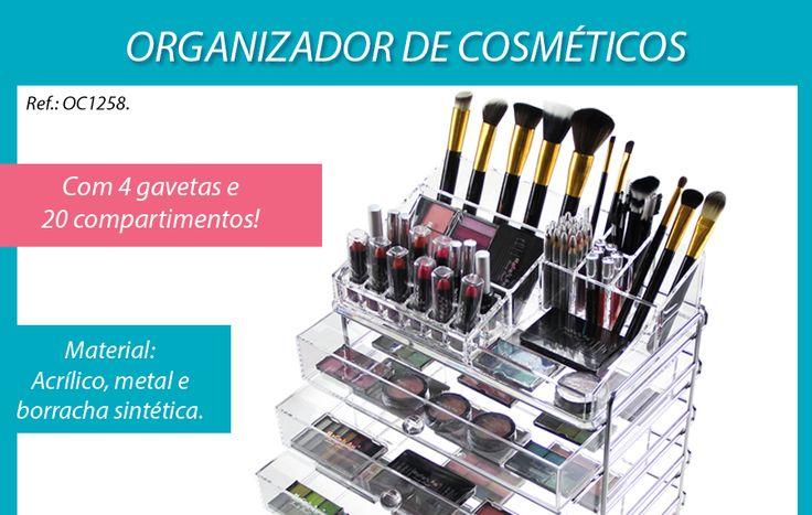 Organizador De Cosméticos Maquiagens Em Acrílico 4 Gavetas - R$ 438,99 no MercadoLivre