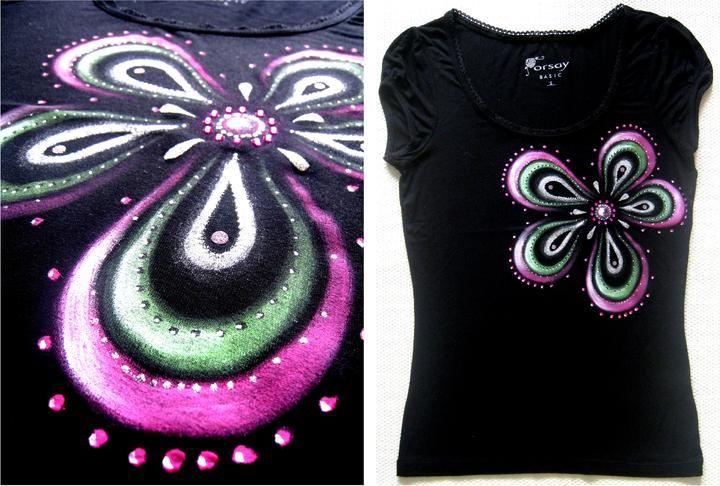 Zase som maľovala na tričká... a aj pár starších vecí, farby a popis - Album užívateľky zeiko | Modrykonik.sk