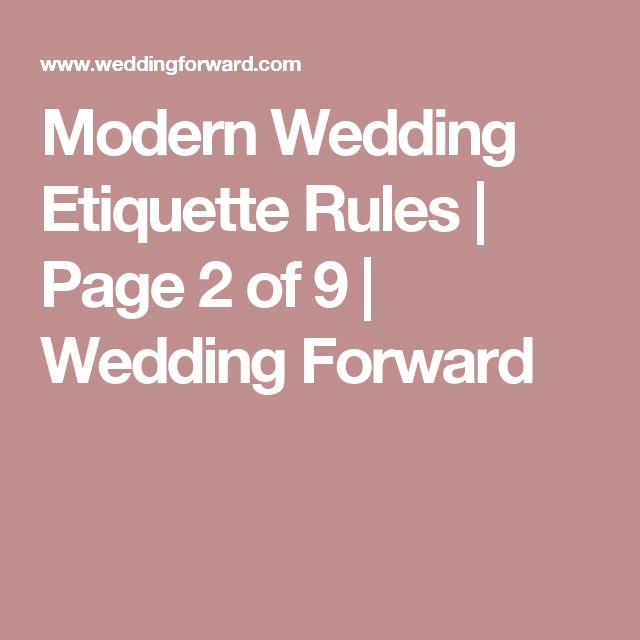 ideas about Wedding Etiquette on Pinterest Wedding tips, Wedding ...