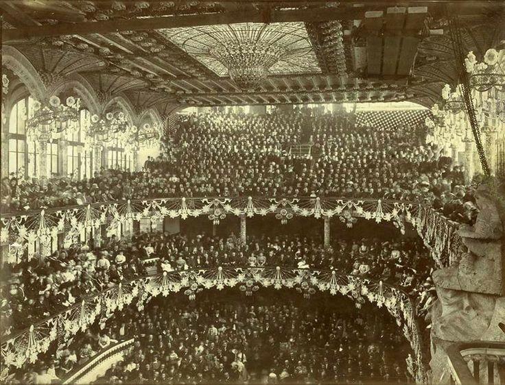 Barcelona, inauguració Palau de la Música 9-2-1908.