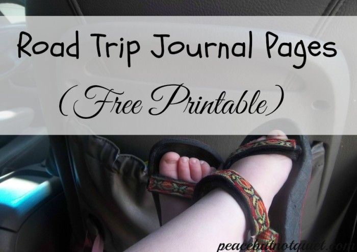 Road Trip Journal Pages (Free Printable!) -- to help kids with writing when they're traveling