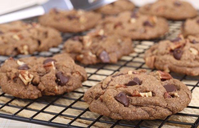 Chocolade-pecan koekjes