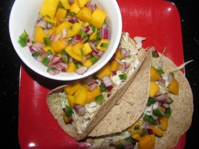 Tasty tilapia topped with a delicious mango salsa comes together in minutes.