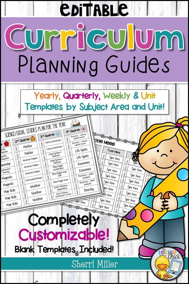 Do you want to organize your curriculum? Use these completely EDITABLE planning guides to help you map out your units, themes and pacing for every subject by the unit, week, month, quarter and/or year.