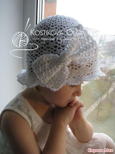 Вяжем вместе роскошную белоснежную шапочку с авторским бантом