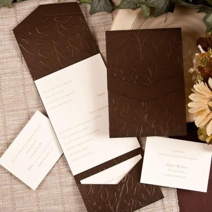 10 images about Embossed Pocket Invitations – Embossed Pocket Wedding Invitations