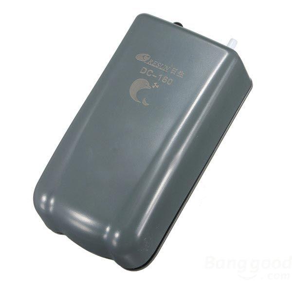 Resun DC Battery Portable Air Pump Fish Tank+ Air Stone Tube DC160