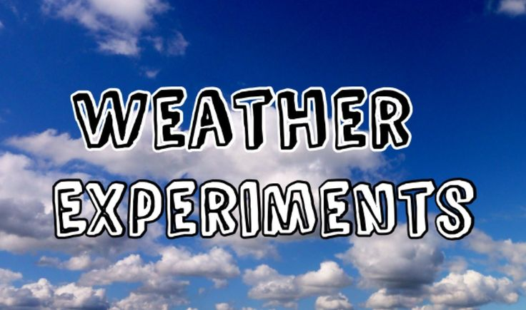 Why not try out some of our weather experiments which show you the science behind the weather.
