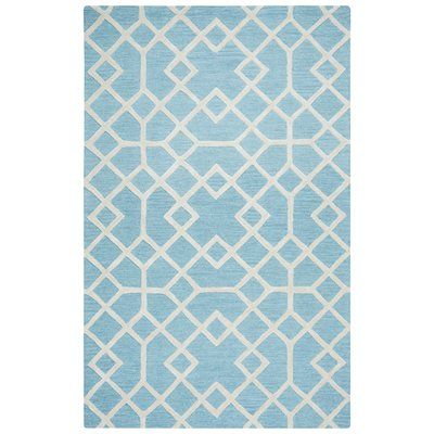 Mercer41 Judy Hand-Tufted Blue Area Rug Rug Size: 9' x 12'