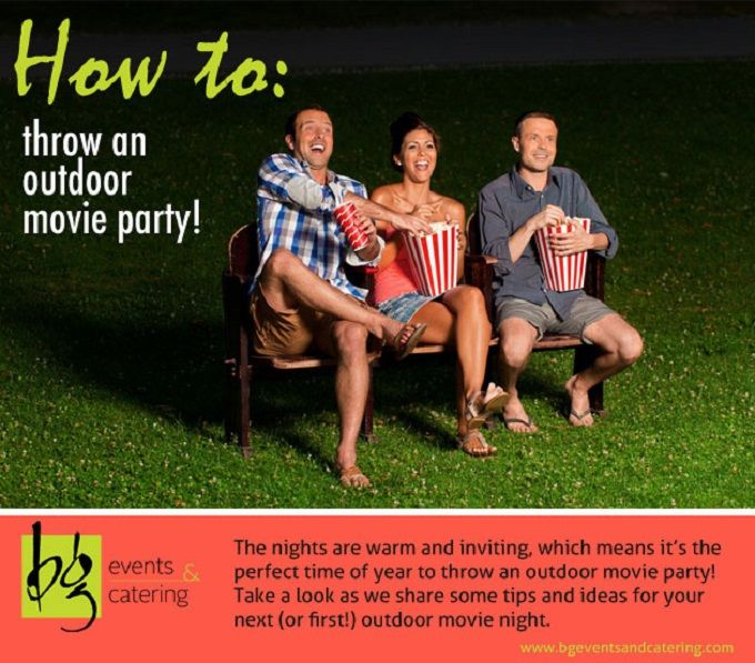 How to Host an Outdoor Movie Party