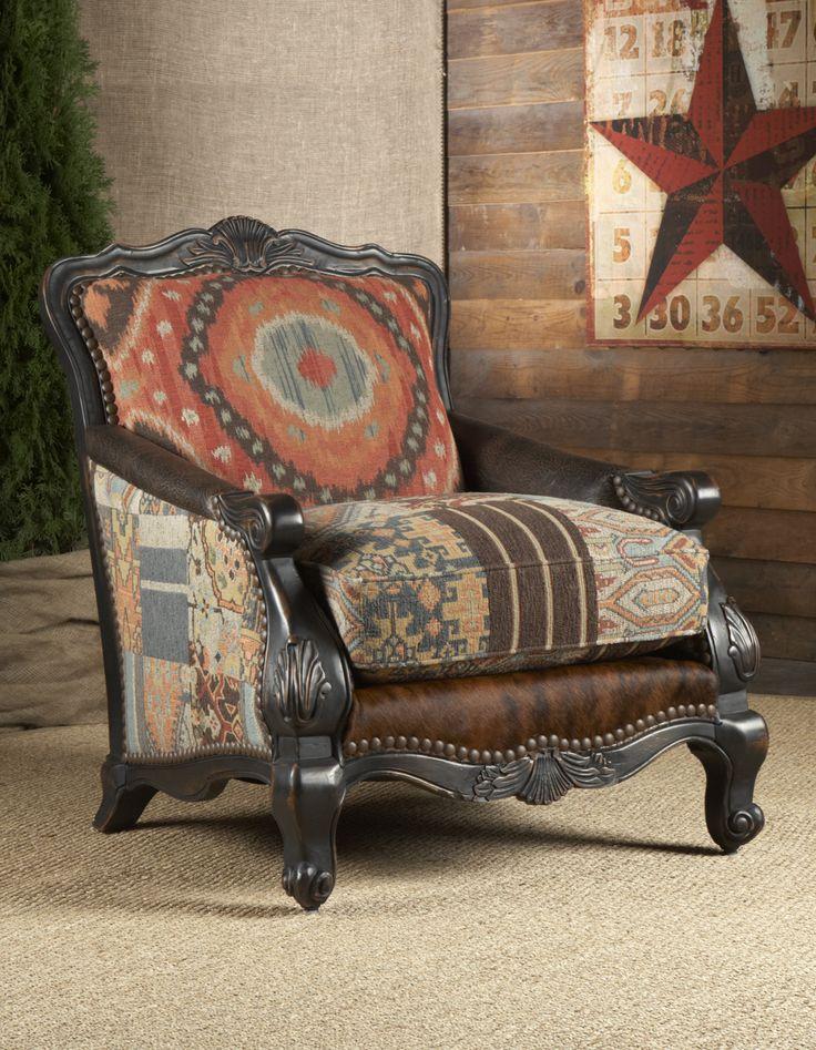 Southwestern Buckley Chair | Chairs & Ottomans--Living Room | | Rustic Furniture | Lakota Cove - Georgia