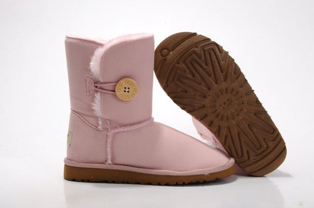 Kids UGG Boots - Bailey Button - Pink - 5991
