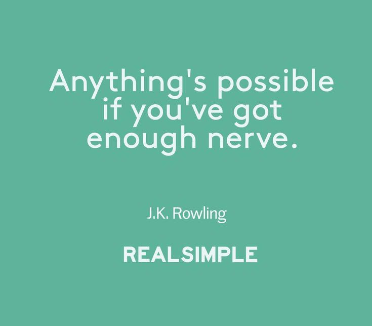Inspiring words from J.K. Rowling.