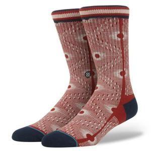 Chaussettes Stance, modèle Blue Back Alley, en rouges.  http://www.cdiscount.com/pret-a-porter/derniers-arrivages/chaussettes-stance-blue-back-alley-rouges/f-11331-mp03365695.html?idOffre=111175630#mpos=1|mp