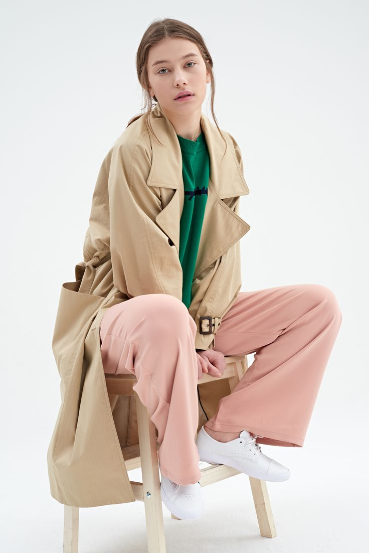 frontrow x low classic trench coat