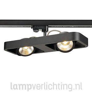 Superb railspot met dimbare led lampen Zwart of wit frame x cm LED lumen Gratis bezorging A klasse railspots Gratis advies