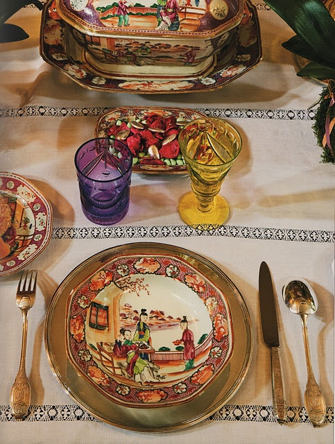 Great place setting for something delicious and Italian......(Design & 30 best Chinoiserie Tableware and Place Setting images on Pinterest ...