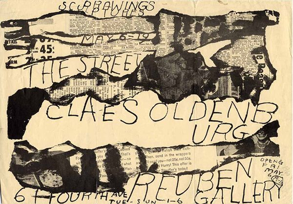 Claes Oldenburg, 1960