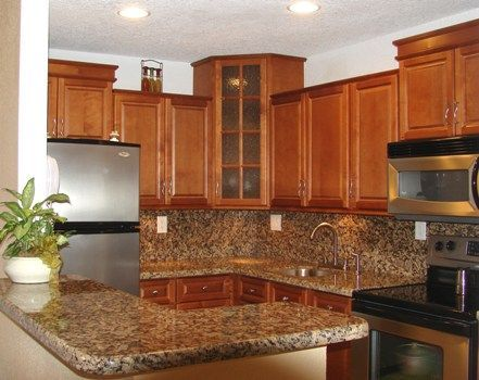 Spice Maple kitchen with Door style cabinets by Kitchen Cabinet Kings - Buy Kitchen Cabinets Online and Save Big with Wholesale Pricing!