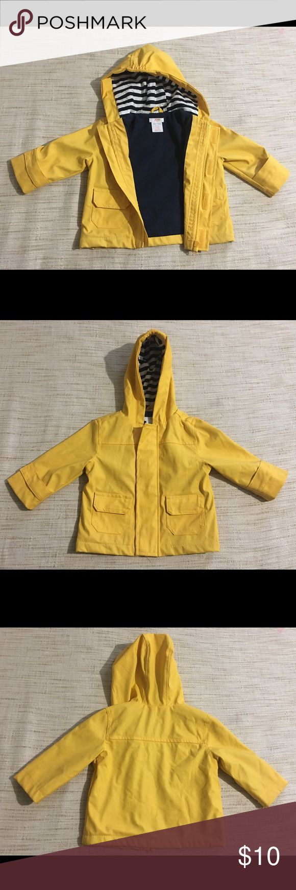Joe fresh rain jacket Joe Fresh bright yellow rain jacket only worn once size 6-12 months Joe Fresh Jackets & Coats Raincoats