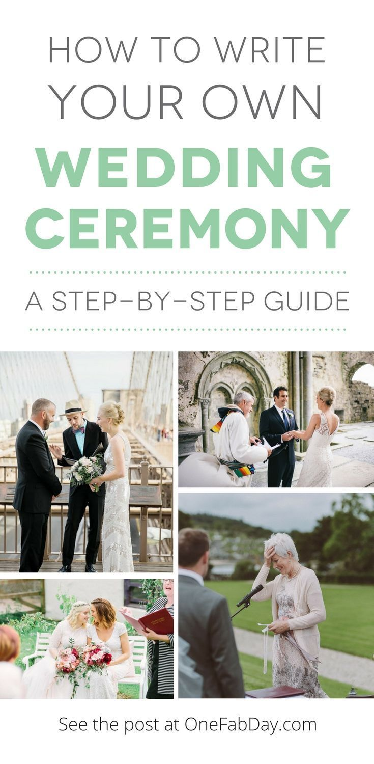 Write your own wedding ceremony