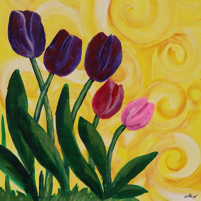 The weather report is predicting a sunny, warm day tomorrow! Let's THINK SPRING and paint these beautiful Tulips! #PaintbrushesAndParty #PaintSipParty #paintandsip #sipandpaint #Friends #Family #Fun #GirlsNightOut #DateNight #RealMenPaint #GetCreative #Color #ChooseYourFavoriteColors #StudioLightingIsGreat #DiscoverYourInnerArtist