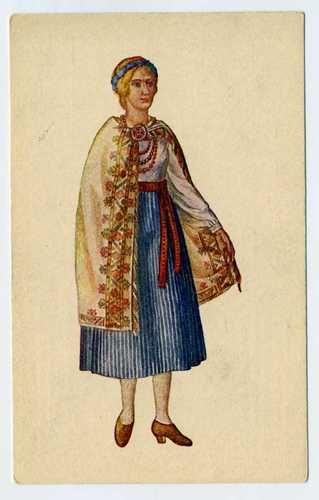 Latvian National Costumes Latvia Latgale 1926 Cirulis Salamandra Riga Postcard