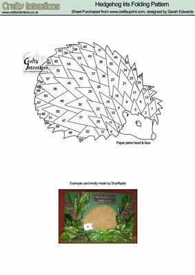 Hedgehog Iris Folding Pattern