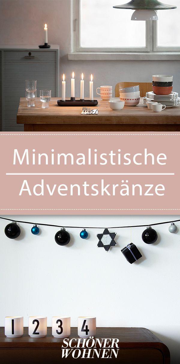kerzenhalter als adventskranz weihnachten adventsdeko. Black Bedroom Furniture Sets. Home Design Ideas