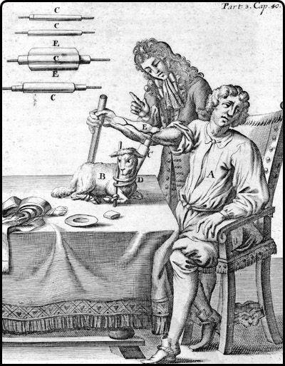 #EducandoAlaPobrería: Las primeras transfusiones sanguíneas fueron realizadas en el siglo 17, usando ovejas como donadores ( porque ovejas? Porque eran el hijo de Dios)Sin embargo, dado que aun no se conocian los tipos de sangre la mayoria de estos procedimientos resultaban fatales para el paciente.