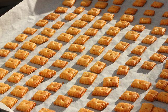 Hartige, pittige cheddar koekjes
