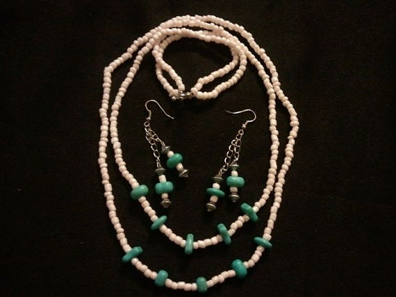 my newest setSmall Business, Turquoise Necklace