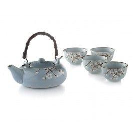 ASIAN BLOSSOM-5PC TEA SET(TPOT:650ML,)