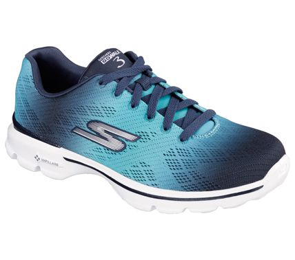 sketchers go walk 3 pulse navy/aqua