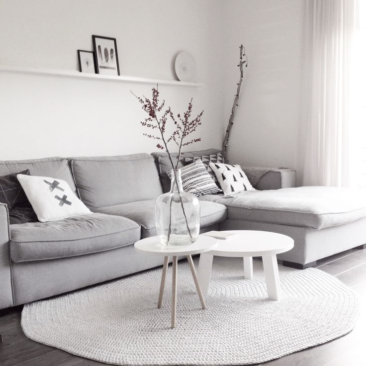 Beautiful gray and white color palette, looks lived in
